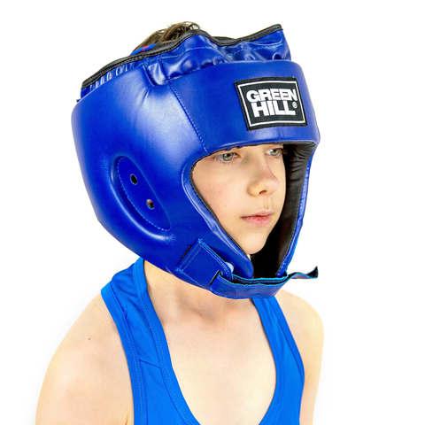 Шлем для боевого самбо Alfa HGA-4014 Green Hill синий