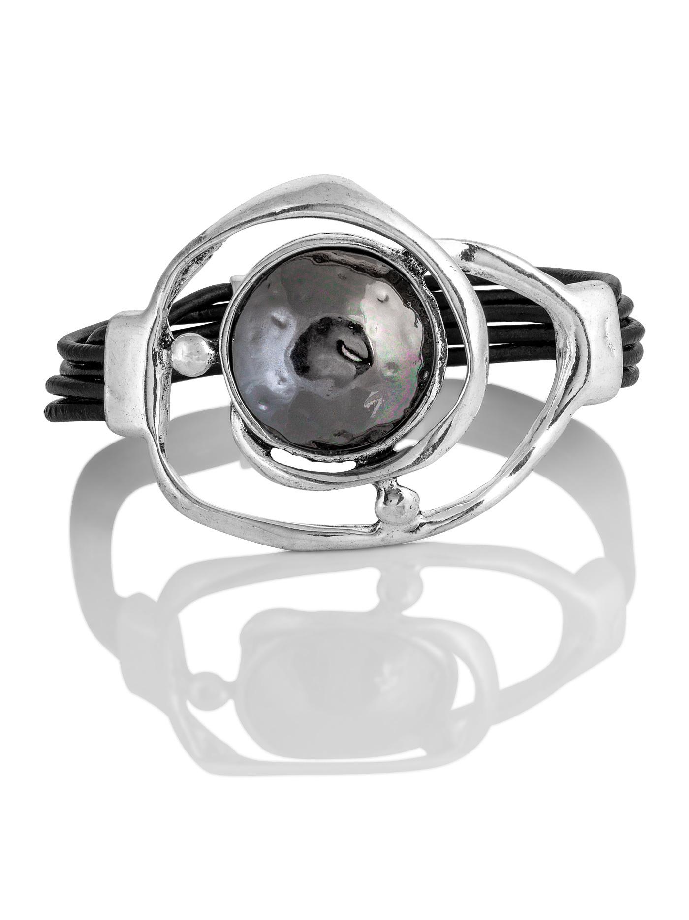 Дизайнерский массивный браслет в подарочной коробке