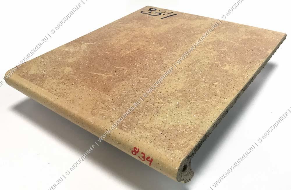 Stroeher - Keraplatte Roccia 834 giallo 340x294x12 артикул 9340 - Клинкерная ступень - флорентинер