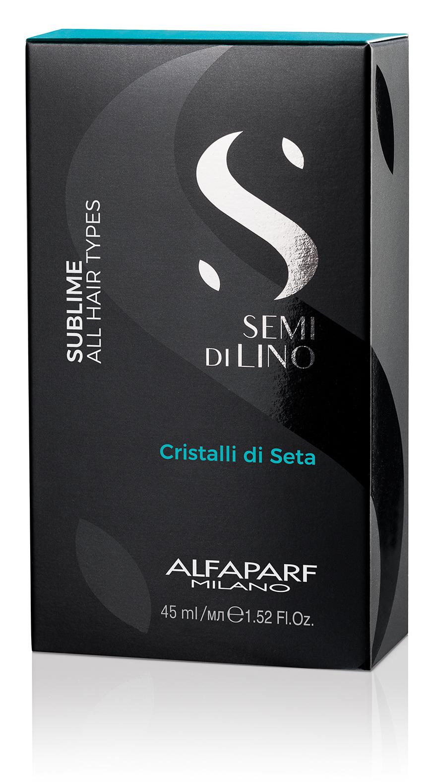 Двухфазная сыворотка для разглаживания волос Cristalli di Seta, 45 мл