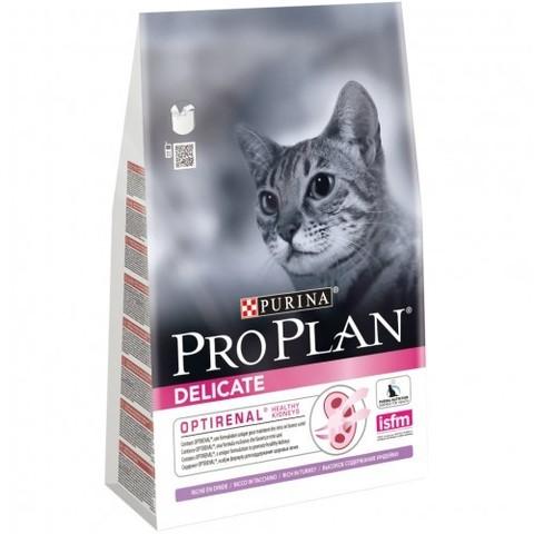 Purina Pro Plan Delicate Turkey сухой корм для взрослых кошек с чувствительной системой пищеварения 3 кг