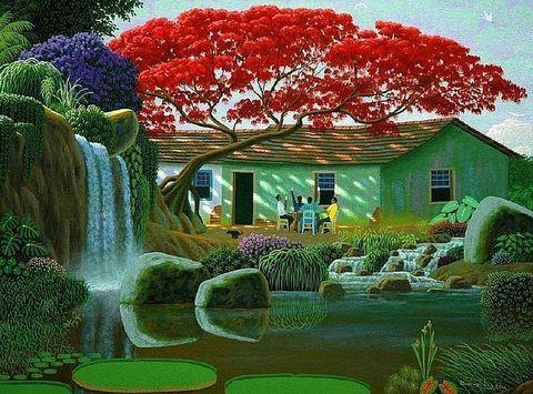 Картина раскраска по номерам 50x65 Красота природы