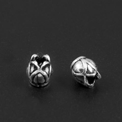 Бусина Бутон 5,2х5 мм серебро 925