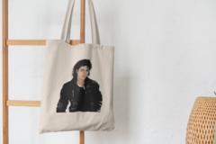 Сумка-шоппер с принтом Майкл Джексон (Michael Jackson) бежевая 001