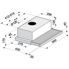 Вытяжка Korting KHP 5211 W - схема