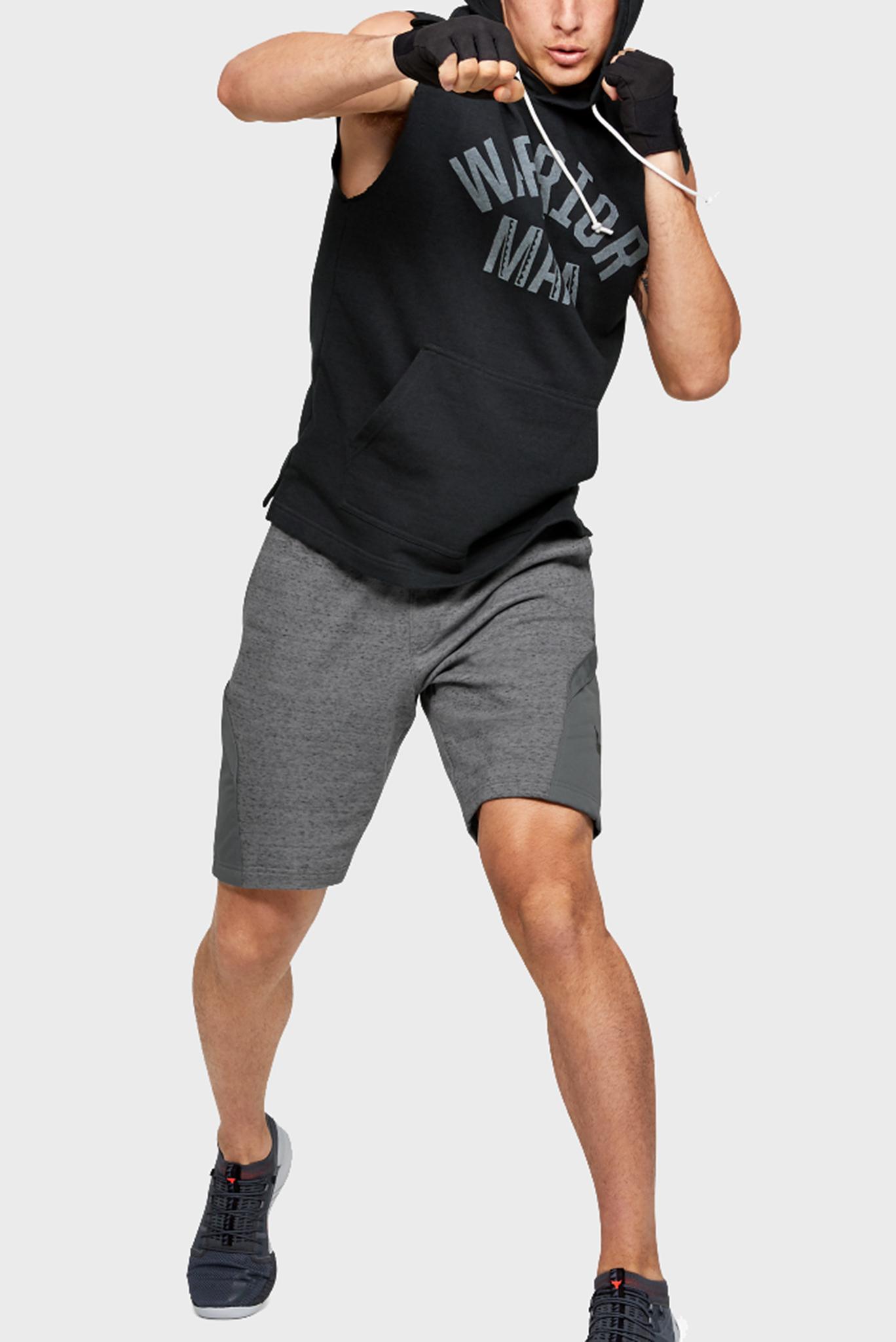 Мужская черная спортивная майка Project Rock SL Terry Hoodie Under Armour