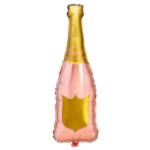 К Фигура Бутылка шампанского, розово-золотая, 30