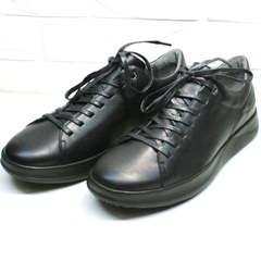 Мужские кроссовки сникерсы черные весна осень Ikoc 1725-1 Black.