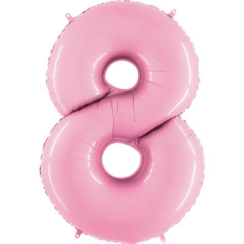 Цифра восемь - розовая