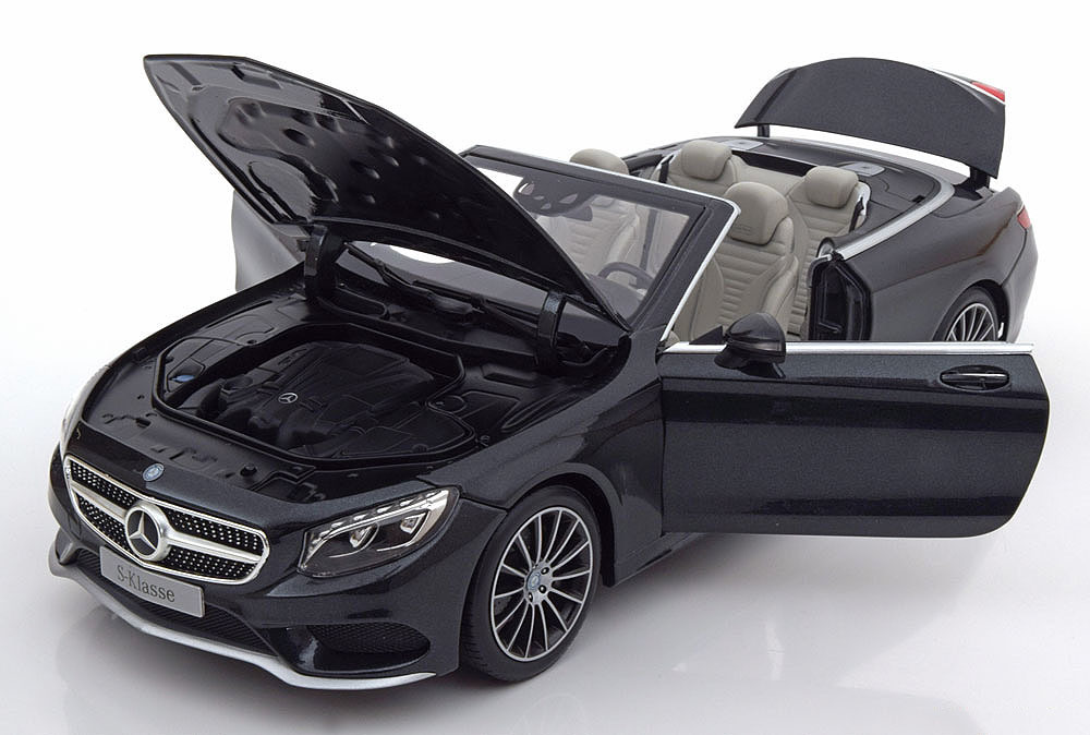 Коллекционная модель Mercedes-Benz C217 S-Klasse Cabrio With Removable Softtop 2015 Dark Grey Metallic