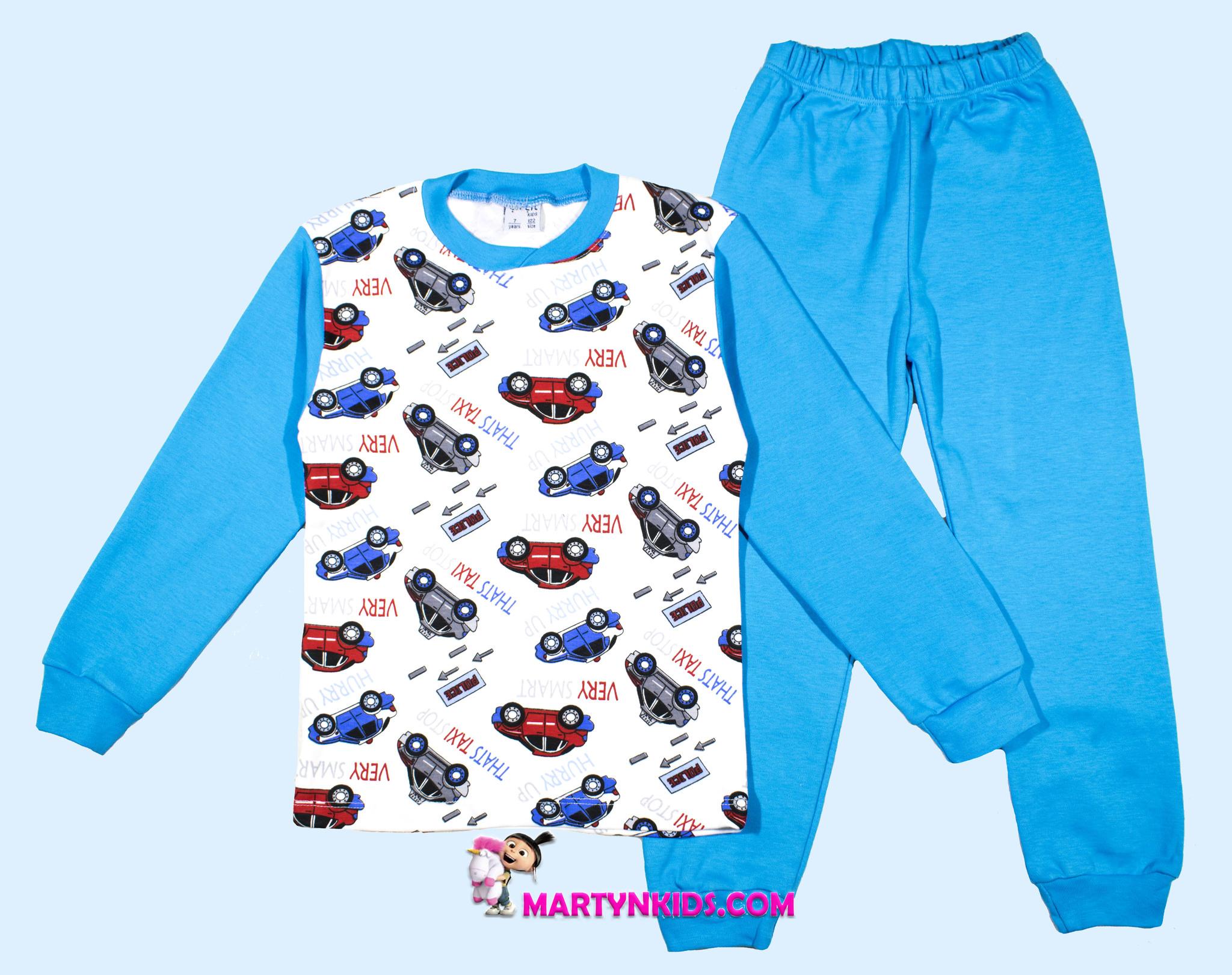 1250 пижама мальчик машинки