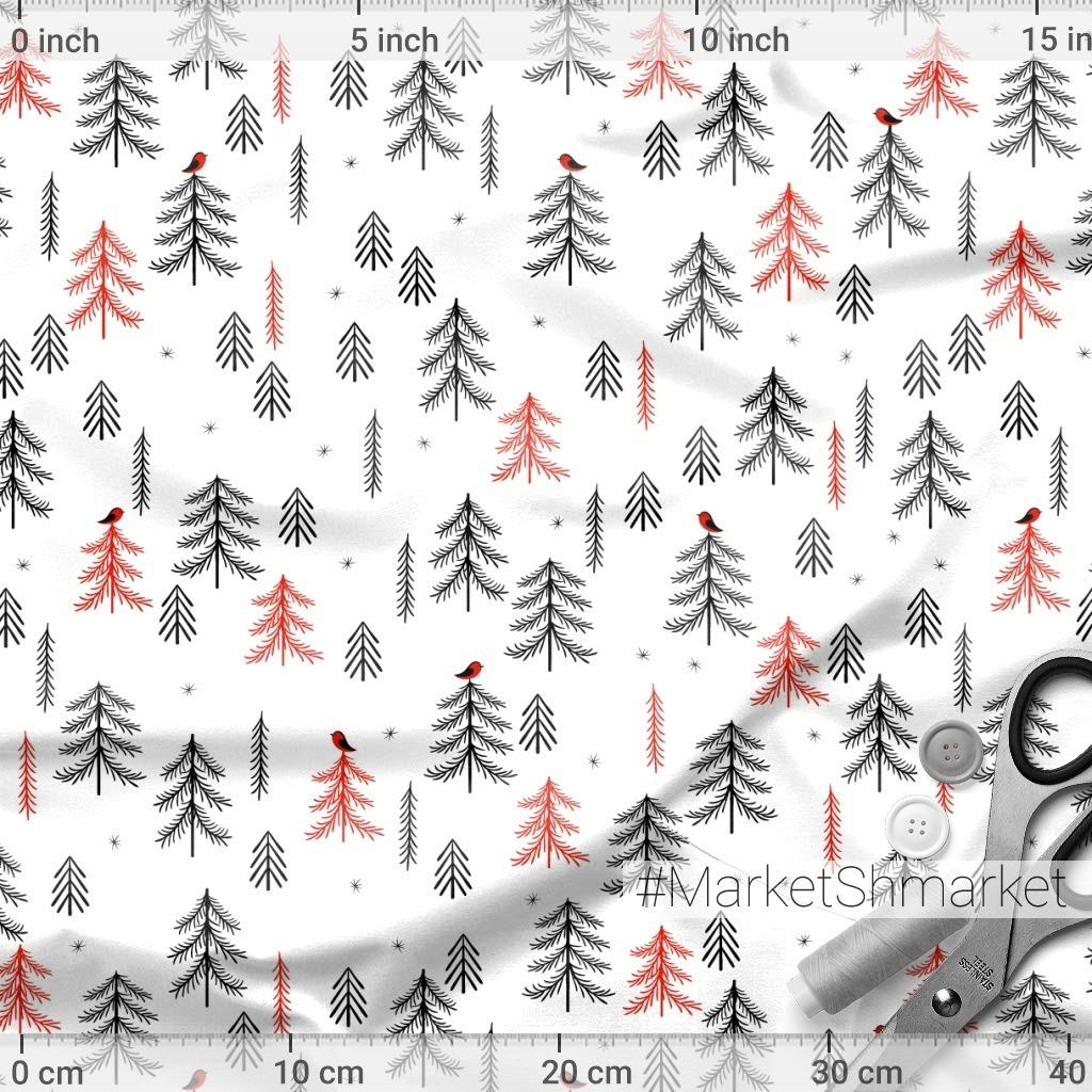 Хвойные деревья на белом фоне. (Дизайнер Irina Skaska)