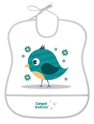 Canpol. Нагрудник пластиковый мягкий, серый