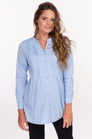 Рубашка для беременных 10919 голубой