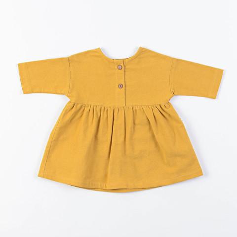 Flannel dress 0+, Mustard