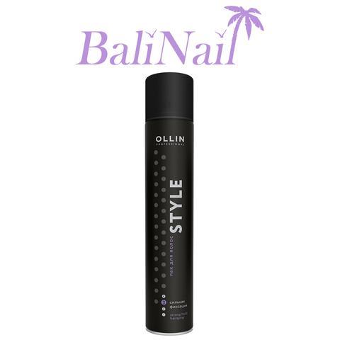OLLIN STYLE Лак для волос сильной фиксации, 500мл