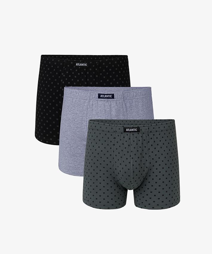 Трусы мужские шорты 3MH-030 хлопок. Набор из 3 шт. CZA/SZM/KHA