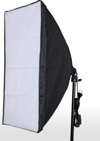 Постоянный источник освещения с софтбоксом 50х50 см NiceFoto ET-50