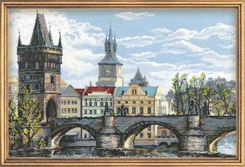 Набор для вышивания крестом «Прага. Карлов мост» (1058)