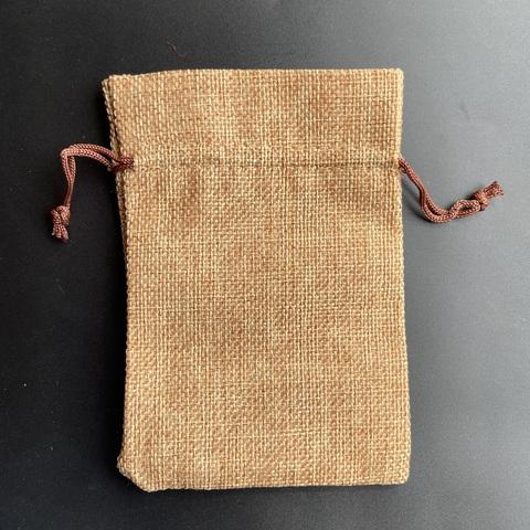 Мешочек из джута 10 х 14 см светло-коричневый