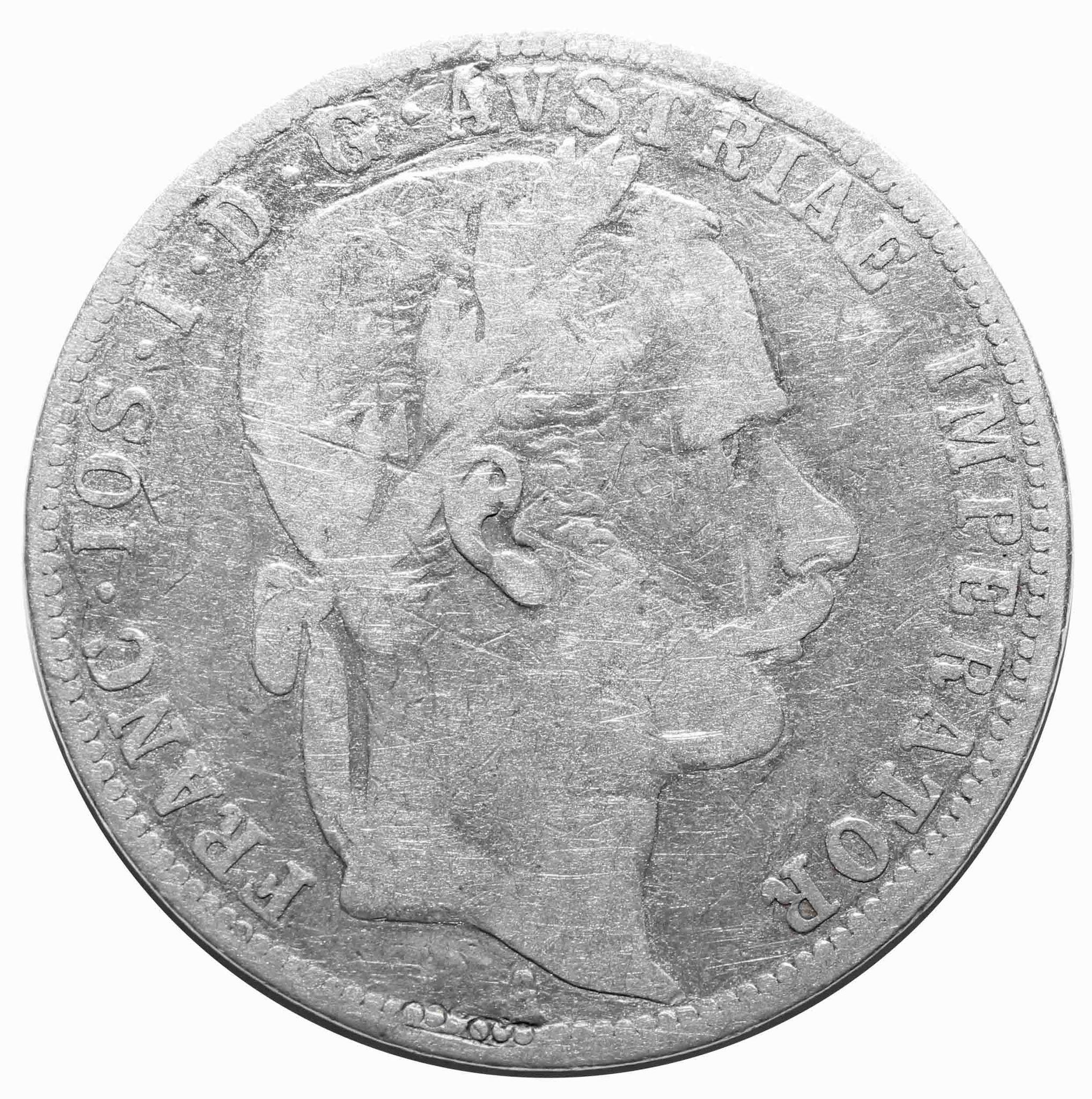 1 флорин 1866 год, Австрия. VF