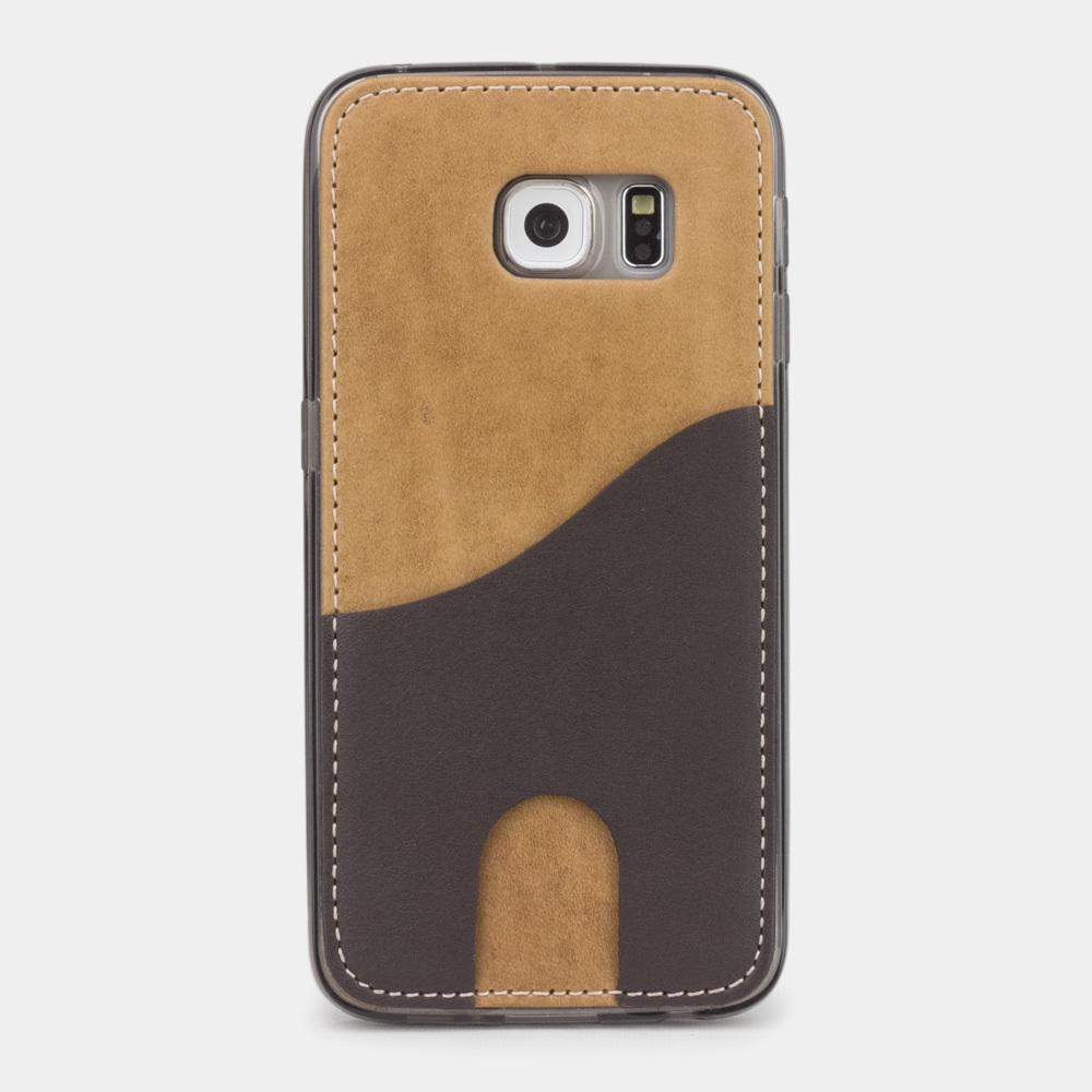 Чехол-накладка Andre для Samsung S6 edge из натуральной кожи теленка, цвета винтаж