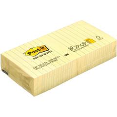 Стикеры Z-сложения Post-it Original 76x76 мм пастельные желтые для диспенсера (6 блоков по 100 листов)