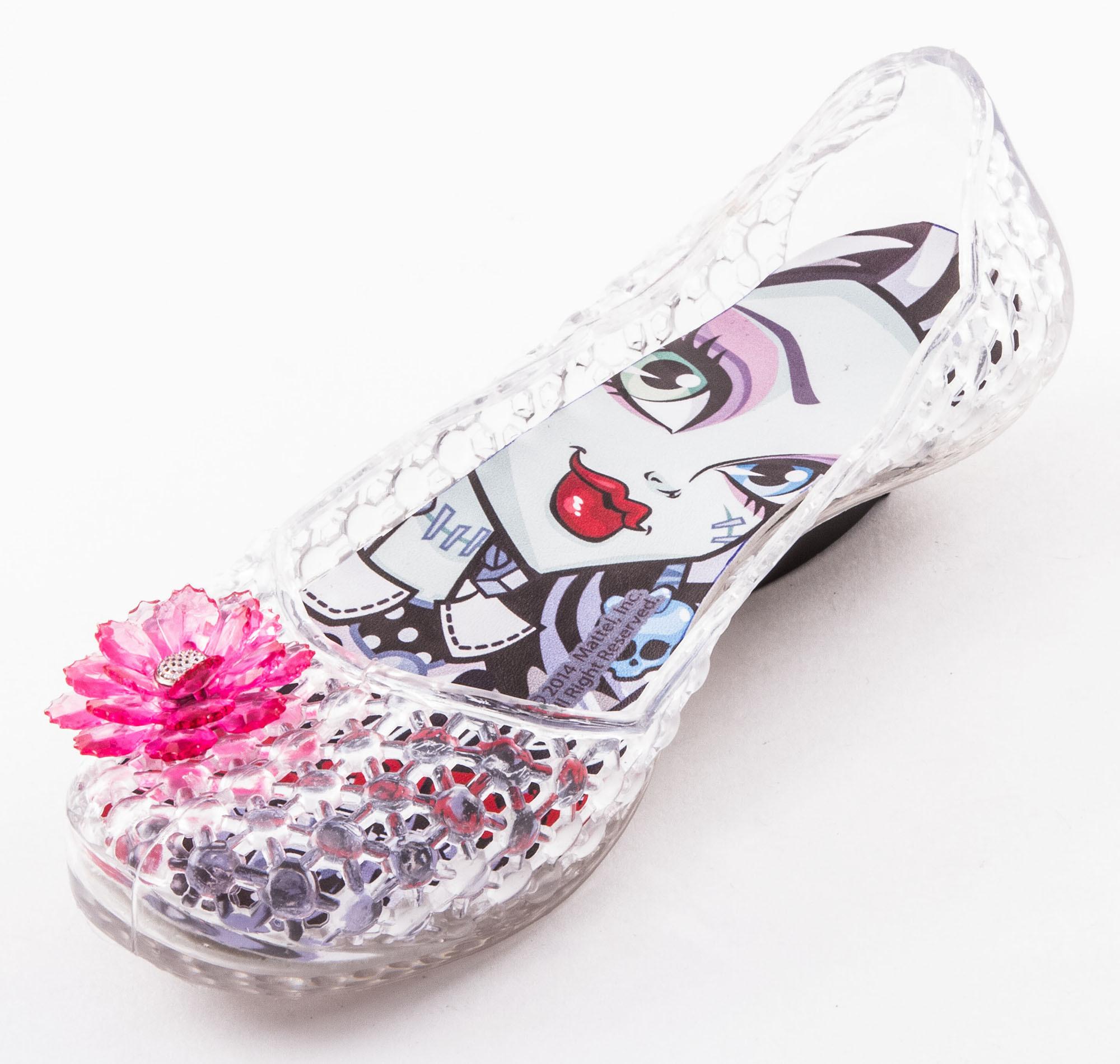Шлепанцы Монстер Хай (Monster High) резиновые балетки для девочки, цвет прозрачный