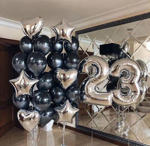 Сет из воздушных шаров Мужской с цифрами