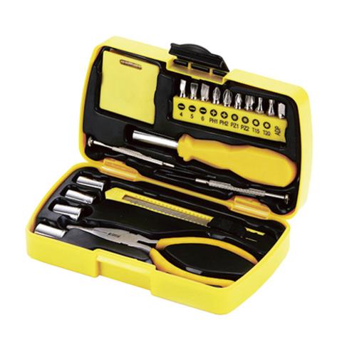 Набор инструментов Stinger, 20 инструментов, в пластиковом кейсе, желтый