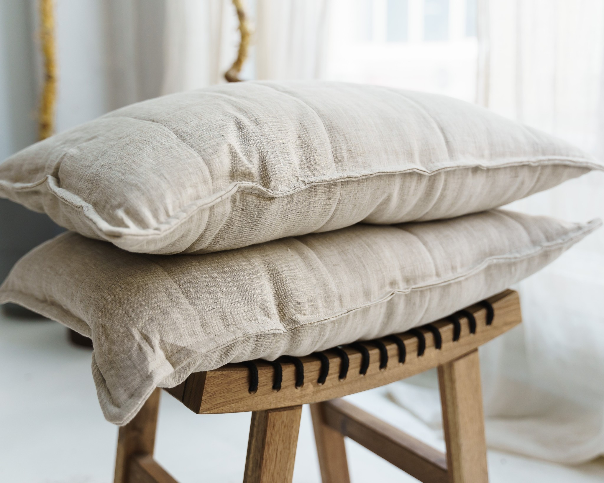 Подушка льняная