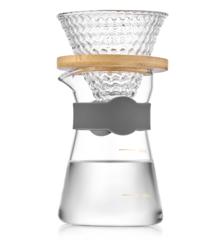 Пуровер, стеклянная кофеварка для фильтр кофе, 400 мл стекло