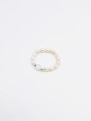 Кольцо из жемчуга с серебром и лунным камнем  оптом и в розницу