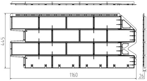 Фасадная панель Альта Профиль Фагот Раменский 1160х450 мм