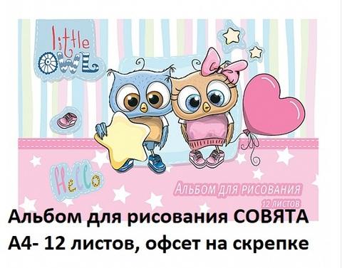 Альбом АЛ12КР-СОВ д/рис. 12л. А4 Совята