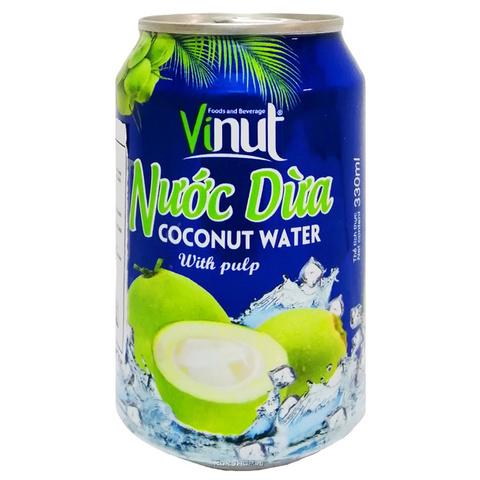 Сок кокоса с мякотью Vinut - Коробка 24х330 мл.