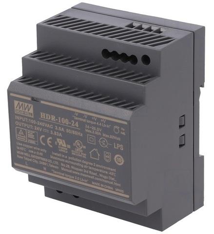 Источник питания Mean Well HDR-100-24