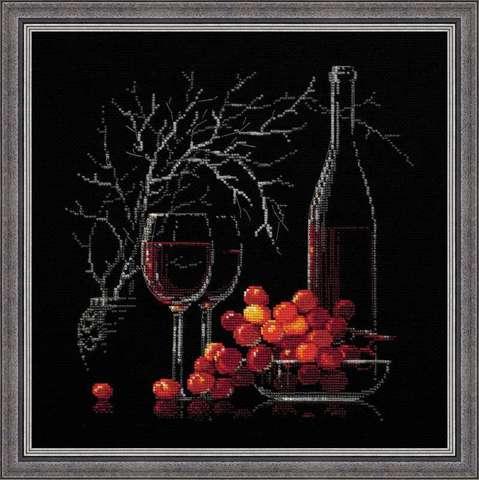 Набор для вышивания крестом «Натюрморт с красным вином» (1239)