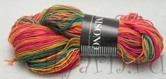 1235 / тропические жёлтый, зелёный, розовый, оранжевый