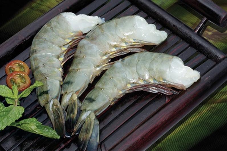 Креветка Ваннамей в панцире без головы, свежемороженая