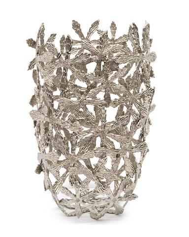 Cast Brass Shasta Vase in Nickel