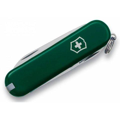 Нож перочинный Victorinox Classic (0.6223.4) 58мм 7функций зеленый