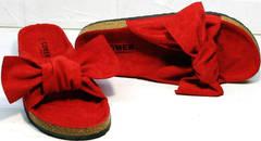 Летние женские сандалии шлепки ортопедические Comer SAR-15 Red.
