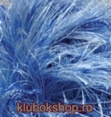 Пряжа Decofur (Alize) 1370 Голубой меланж, фото