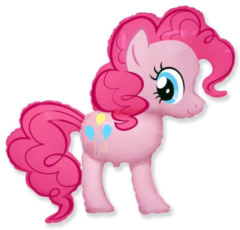 Шар из фольги розовая пони Пинки Пай из мультфильма май литл пони