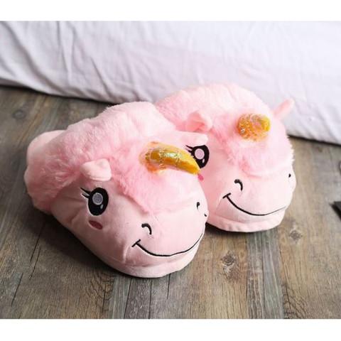 Тапочки единороги розовые женские