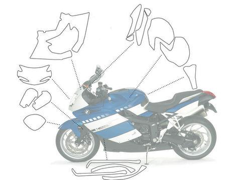 Прозрачные пленки для защиты ЛКП BMW K1300S (набор)
