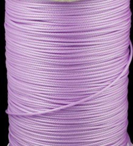 Шнур нейлон вощеный 1.0 мм. светло-сиреневый