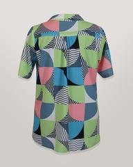 Блузка HAT рубашка карман геометрия к/р