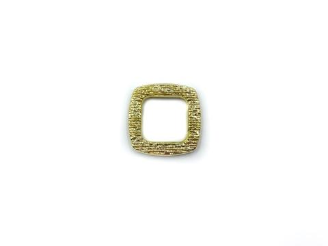 Квадрат желтое золото 16 мм (пластик)